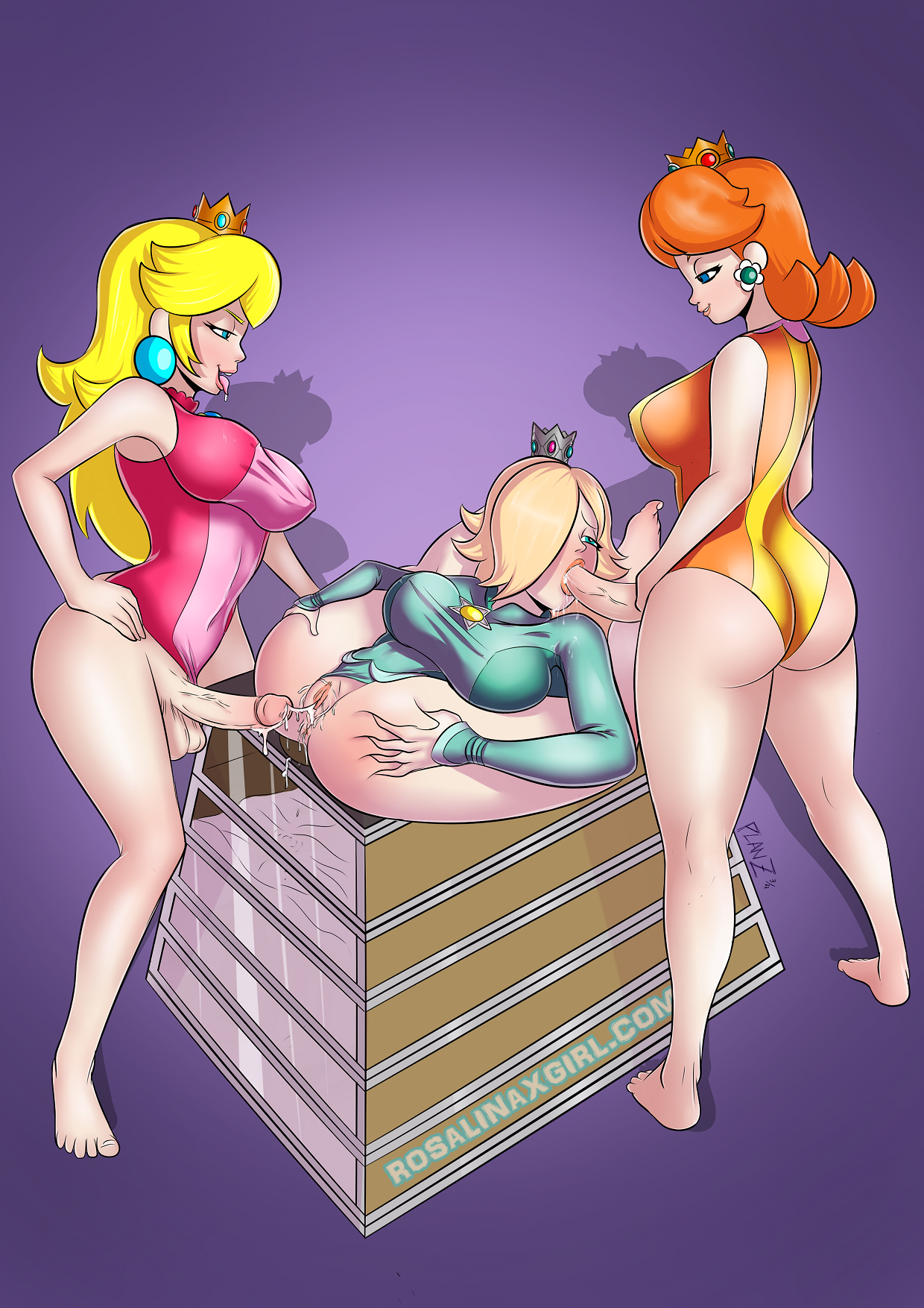 peach and daisy futanari